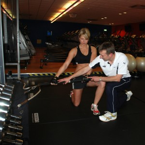 Bob Wood training a golf athlete