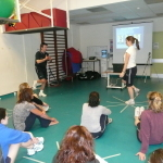 Bob Wood teaching physiotherapy education course